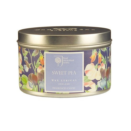 Rhs Scented Wax Filled Tin Sweet Pea, Purple