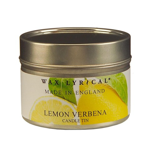 Made In England Wax Filled Tin Lemon Verbena, Yellow