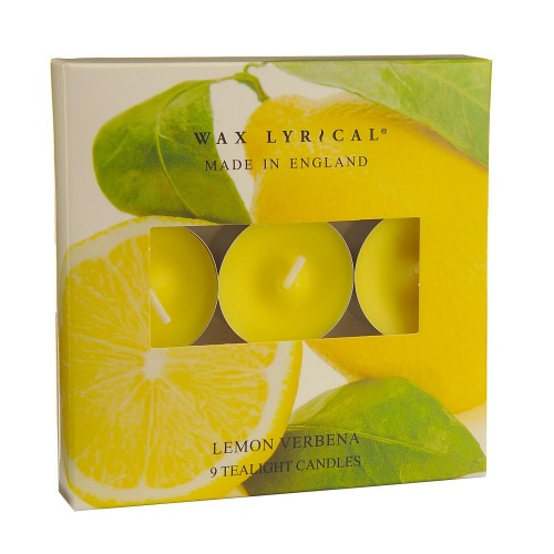 Made In England Tealights Bx/9 Lemon Verbena, Yellow
