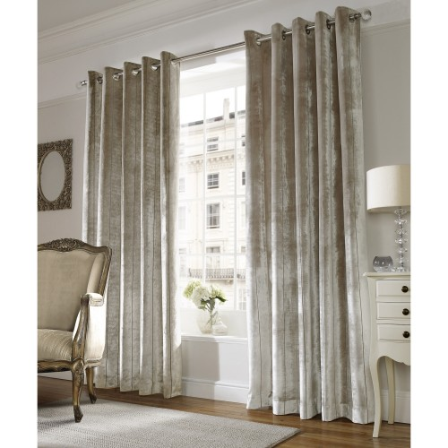 "Ashley Wilde ready made curtains Lux Champagne 66""x72"""