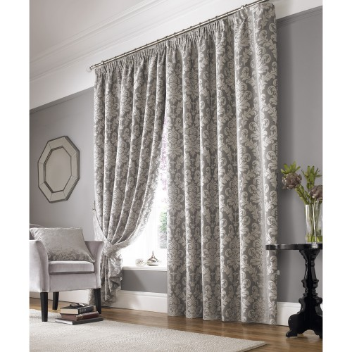 "Lille Silver 66""x54"" Curtains"