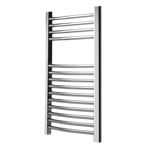 800x500m Curved Towel Radiator, Chrome