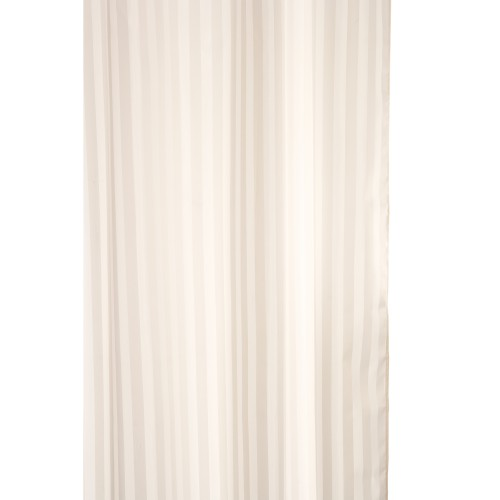 Croydex Woven Stripe Text Curtain, Ivory