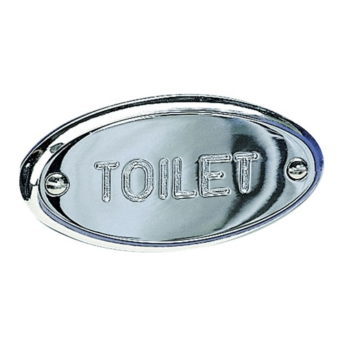 Miller Of Sweden Toilet Sign, Chrome