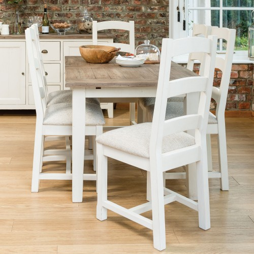 Casa Cotswold Ext Table & 4 Upholstered Chairs