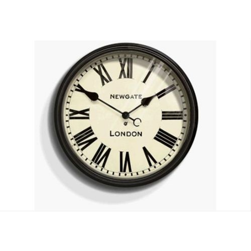 Newgate Battersby Wall Clock, Gloss Black