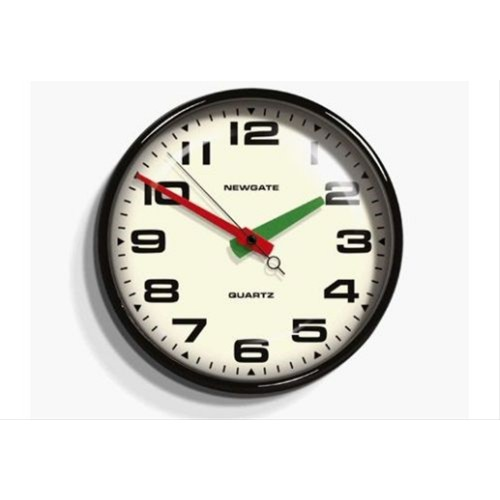 Newgate Brixton Wall Clock, Black