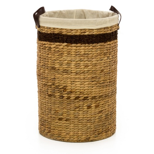 Casa Water Hyacinth Hamper Large, Brown