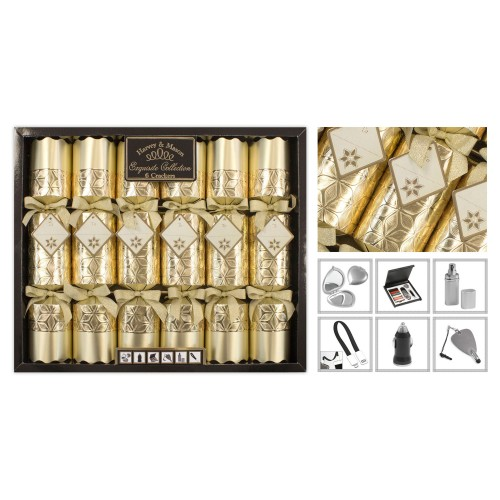 RSW International 6 Exquisite Crackers, Gold