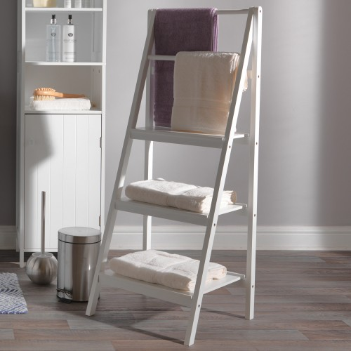 Brilliant Casa Newport Ladder Bathroom Storage Shelf White Interior Design Ideas Gentotryabchikinfo