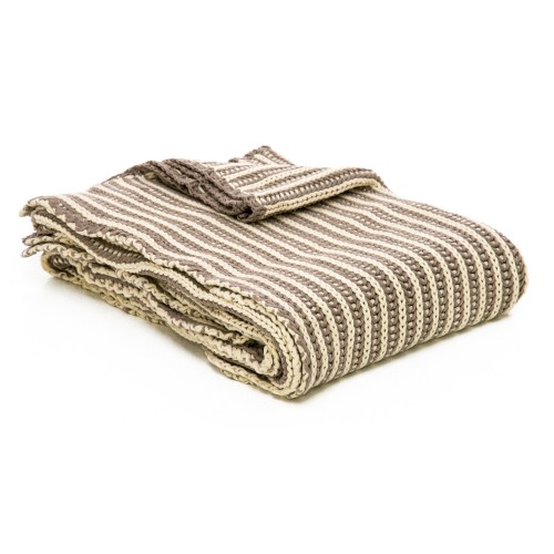 Casa Two Tone Tinke Throw, Beige