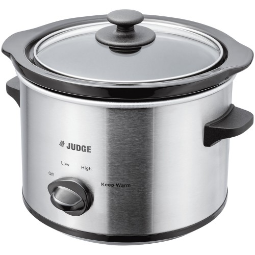 Judge 1.5l Slow Cooker, Stainless Steel