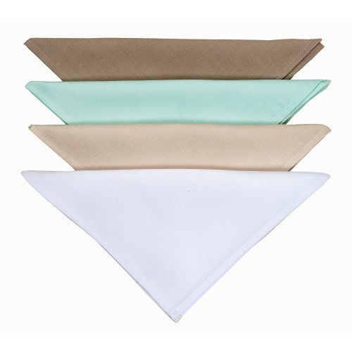 Le Chateau Plain Dyed Napkin Pack 4, Duck Egg