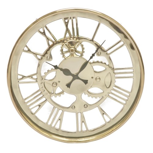 Casa Small Westminster Gears Clock, Silver