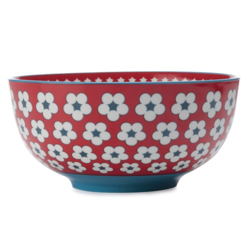 Christopher Vine Cotton Bud Large Bowl, Red