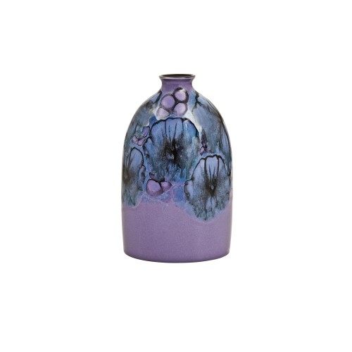 Poole Pottery Jasmine Medium Oval Bottle Vase, Lilac