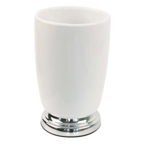 Miller Of Sweden Ceramic Tumber F/s, White/chrome
