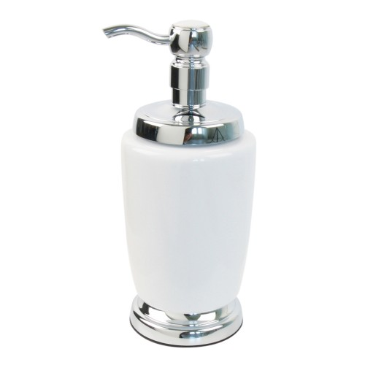 Miller Of Sweden Ceramic Lotion Bottle F/s, White/chrome