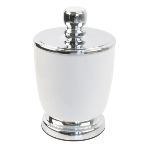 Miller Of Sweden Ceramic Canister F/s, White/chrome