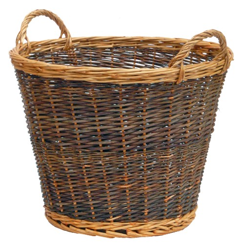 Manor Duo Tone Large Log Basket, Willow
