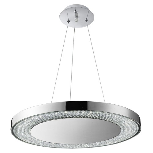 Led Disc Pendant, Chrome