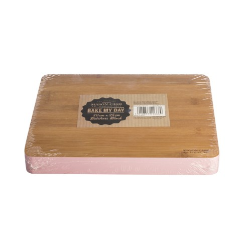 Mason Cash Bake My Day Butchers Block, Pink