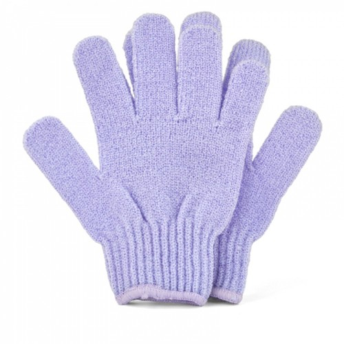 Half Moon Exfoliating Gloves, Violet