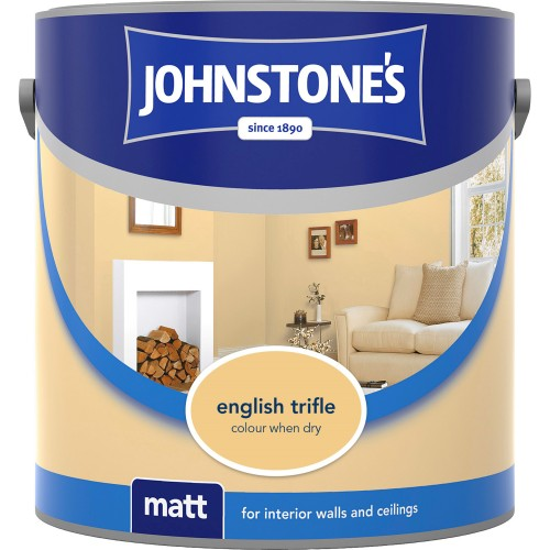 Johnstones 2.5l Matt Paint, English Triffle