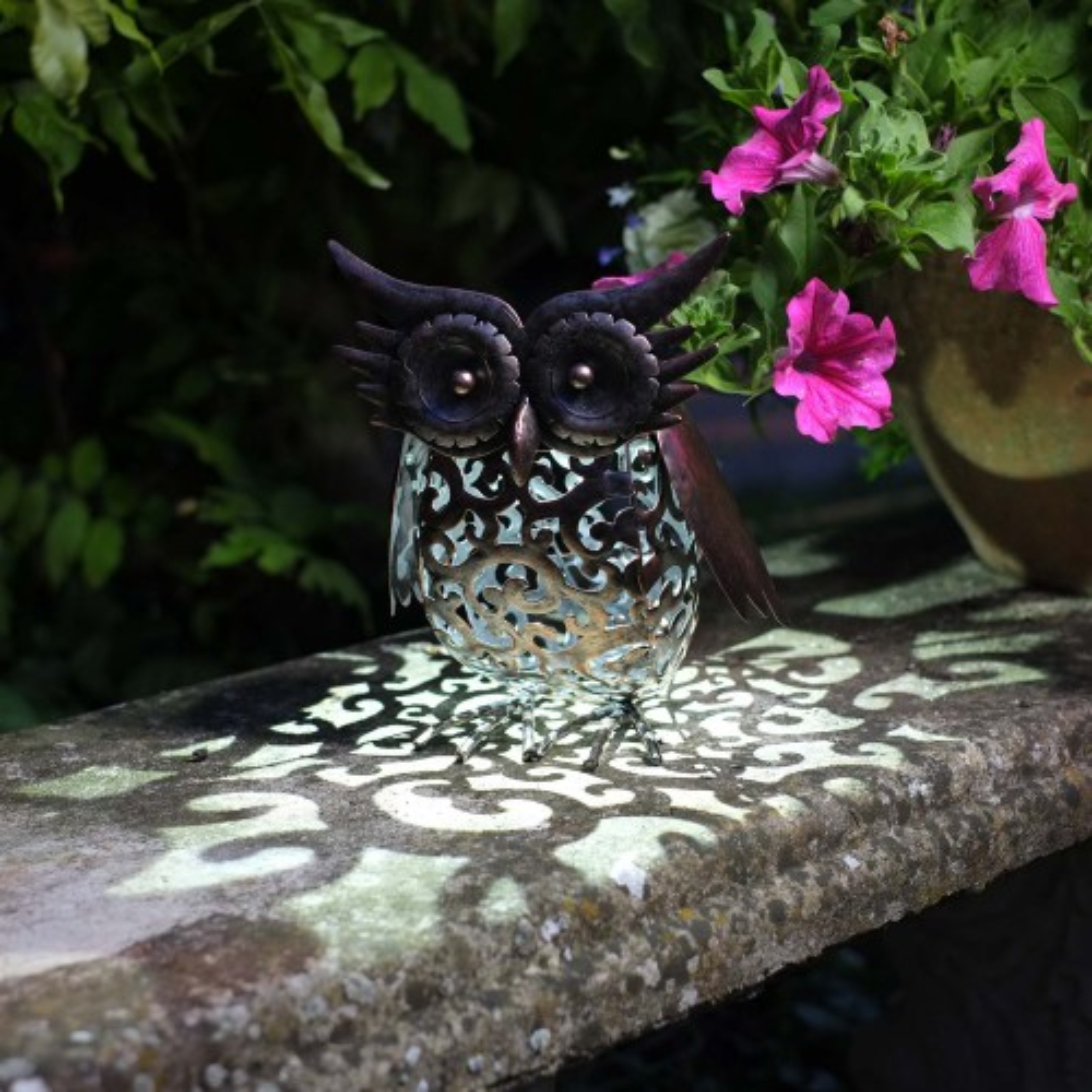 Smart Garden Owl, Bronze