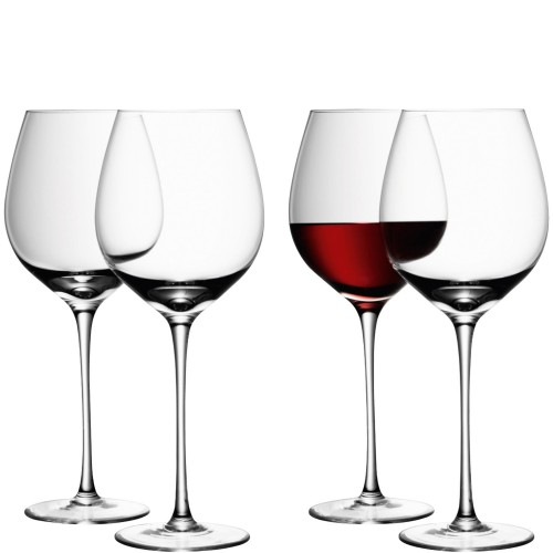 LSA Wine Red Glass x4, Clear