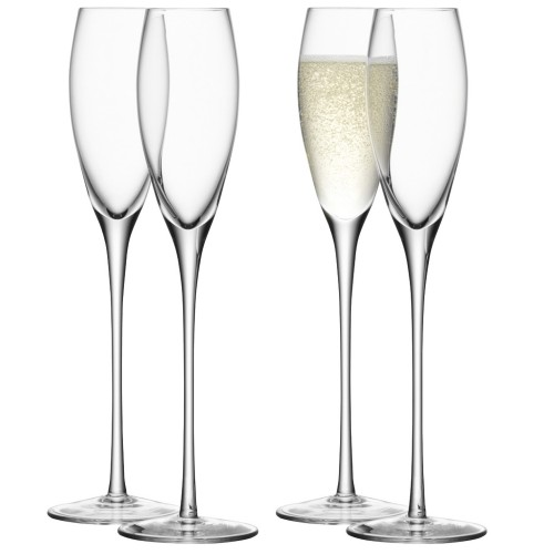 LSA Wine Champagne Flute x4, Clear