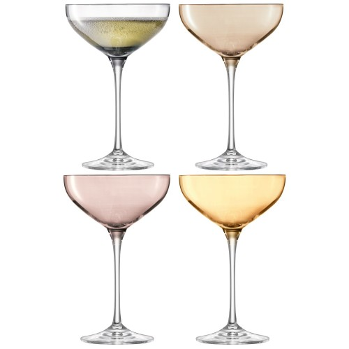 LSA Polka Champagne Saucer x4, Metallics