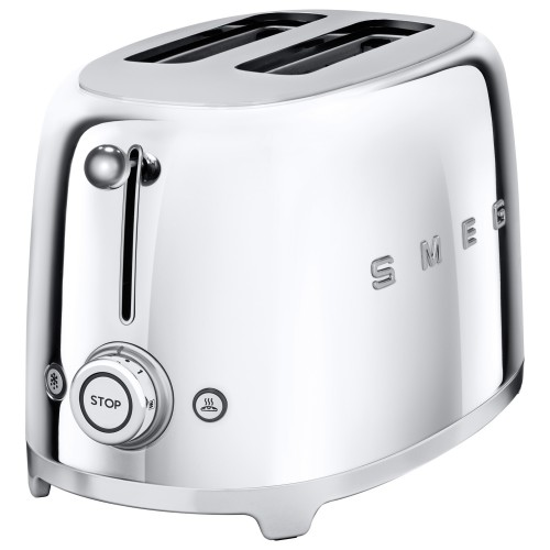 Smeg 2 Slice Toaster Chrome, Chrome