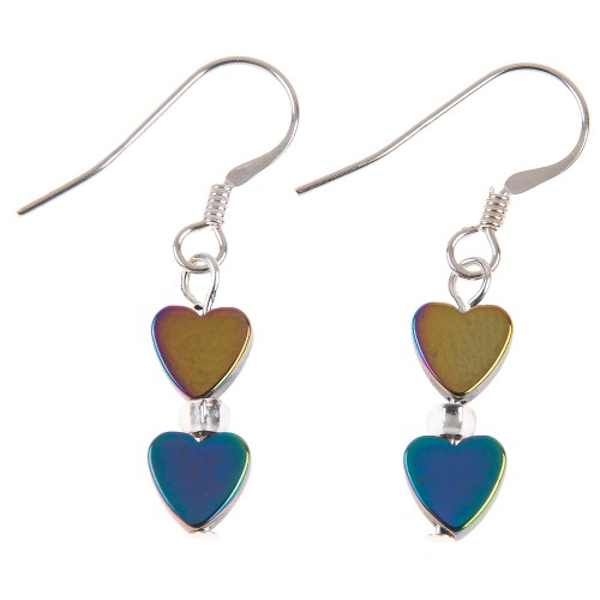 Carrie Elspeth Rainbow H Hearts Earrings, Multi