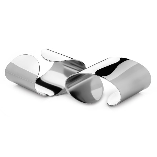 Robert Welch Radford Napkin Ring Set Of 2, Stainless Steel