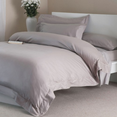 Belledorm Egyptian Cotton Flat Sheet, Double, Pewter