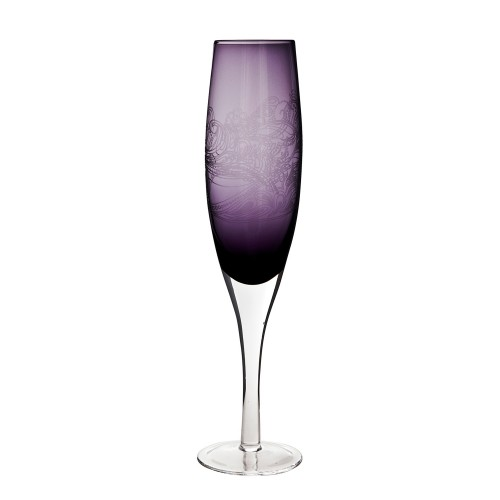 Monsoon Cosmic Champagne Flute Pack Of 2, Deep Purple