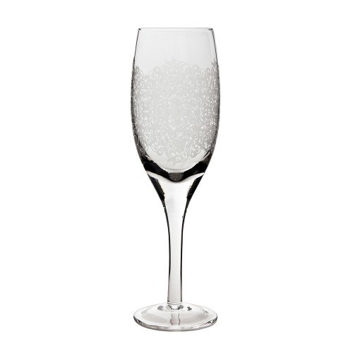 Monsoon Filigree White Wine Glasses Pack Of 2, Clear Etched