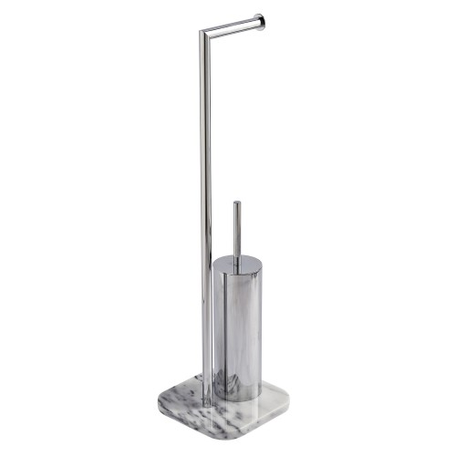 Showerdrape Athena Marble T/brush Combo, White