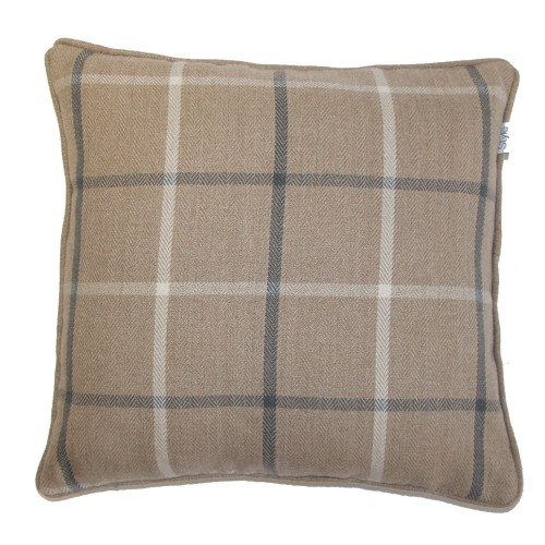 Gordon John Mull Feather Filled Cushion Onesize, Latte