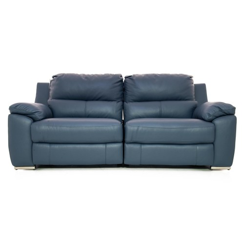 Casa Fiji 2.5 Str Manual Recliner Sofa, Ocean Blue