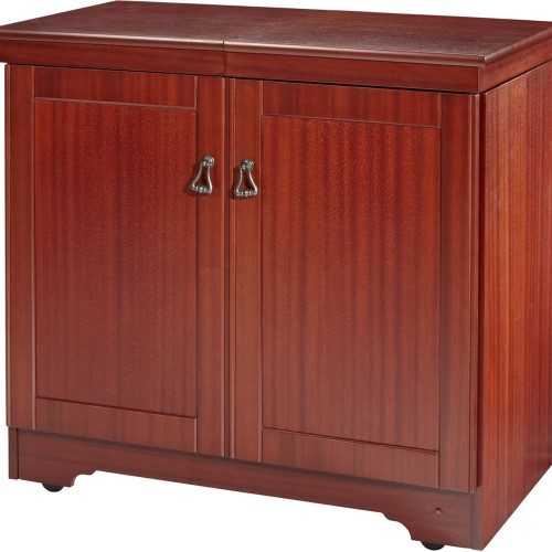 Hostess Real Wood Veneer In Mahogany, Mahogany