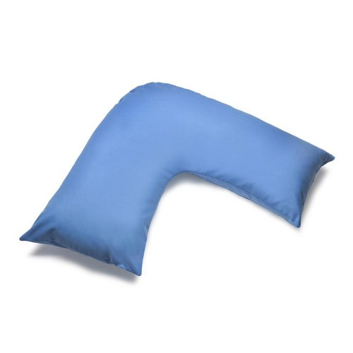 Belledorm 200 Thread Count Vshape Pillowcase, Onesize, Sky Blue.