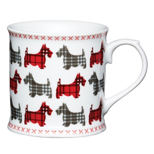 Kitchencraft Scottie Dog Tankard Mug, Red & Grey
