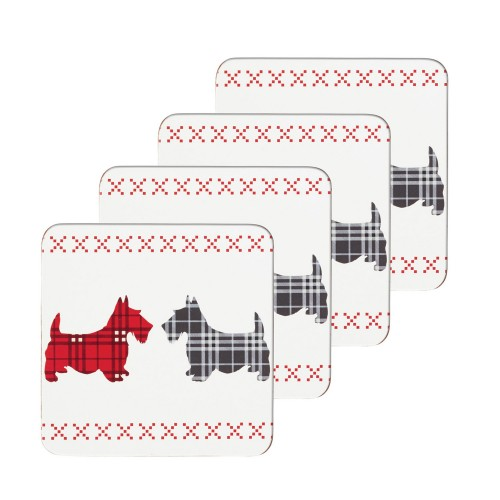 Kitchencraft Scottie Dog Coaster Set