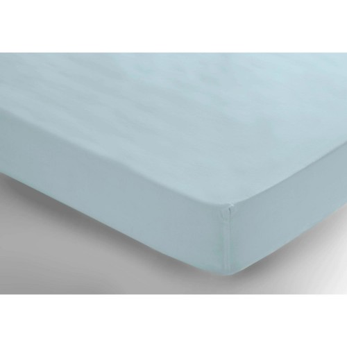 Belledorm 200 Thread Count Fitted Sheet, Single, Duckegg.