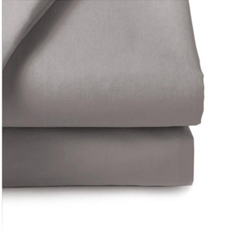 Belledorm 200 Thread Count Fitted Sheet, Kingsize, Grey.