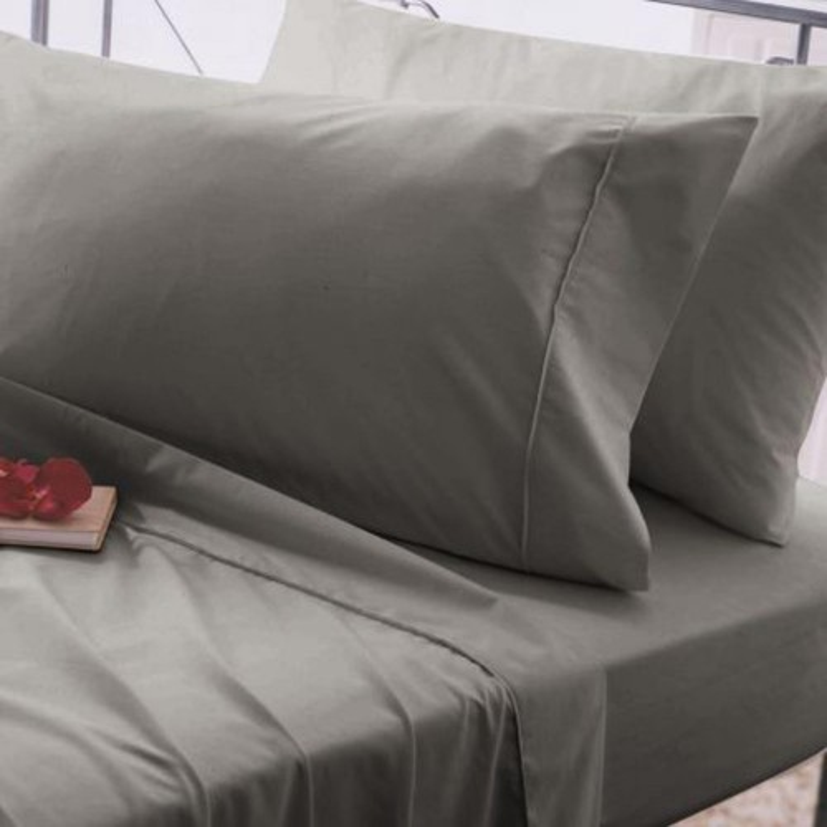 Belledorm 200 Thread Count Oxford Pillowcase, Onesize, Grey.