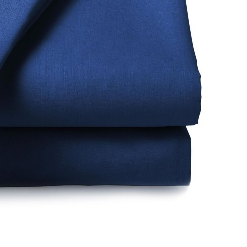 Belledorm 200 Thread Count Fitted Sheet, Double, Navy.