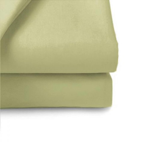 Belledorm 200 Thread Count Flat Sheet, Double,Olive.